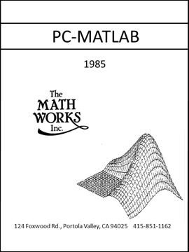 MATLAB History, PC-MATLAB Version 1.0