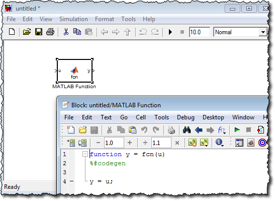 The 12a MATLAB Editor with EML