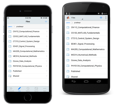 matlab_mobile_file_browser