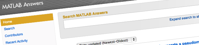 MATLAB Answers header