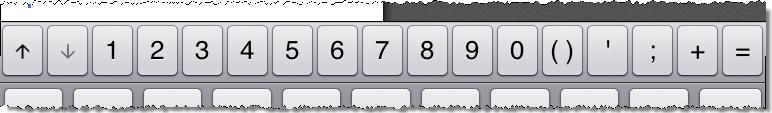 MATLAB Mobile 3.1 keybaord