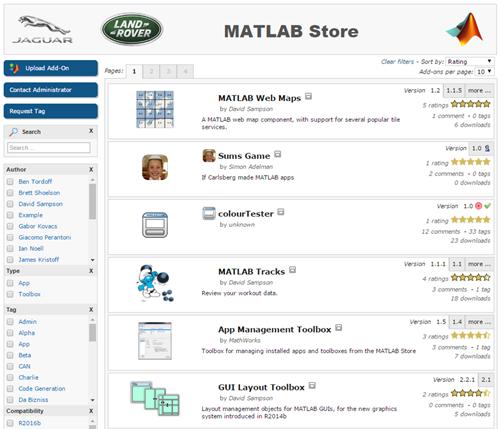 jlr-matlab-store