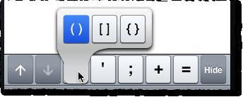 MATLAB Mobile parenthesis extra key