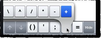 MATLAB Mobile plus extra key