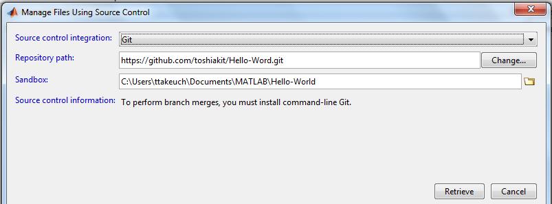 MATLAB and Git » MATLAB Community - MATLAB & Simulink