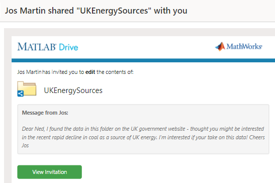 MATLAB Drive and British Coal
