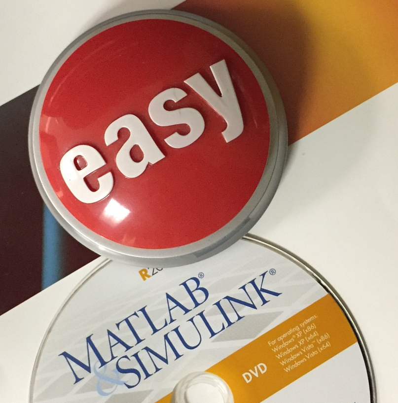 Easy button with a product DVD