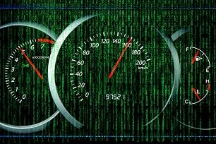 car speedometer generates data