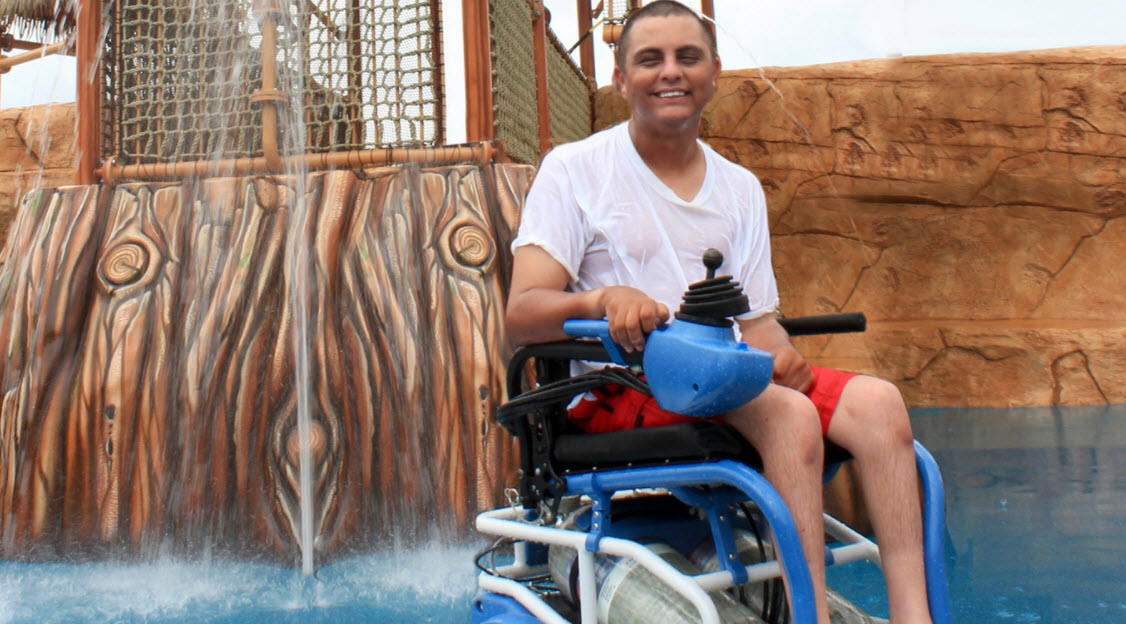 Designing a waterproof, air-powered wheelchair that lets everyone enjoy the water