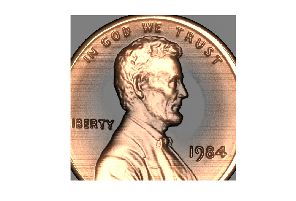 Higher Resolution Penny » Cleve's Corner: Cleve Moler on
