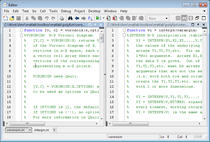 how to open editor window in matlab