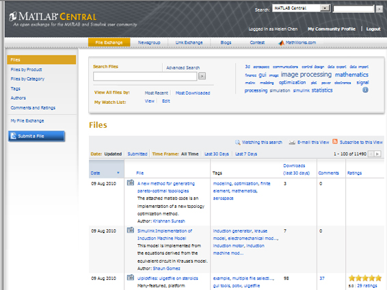 MATLAB Central Home Page