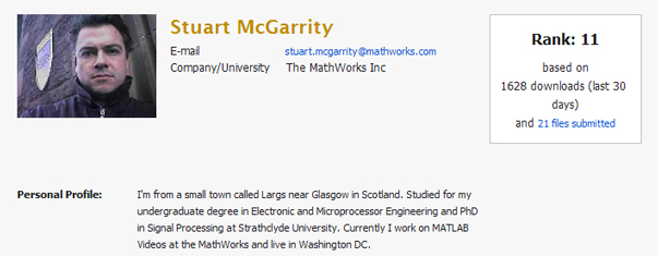 File Exchange Profile for Stuart McGarrity