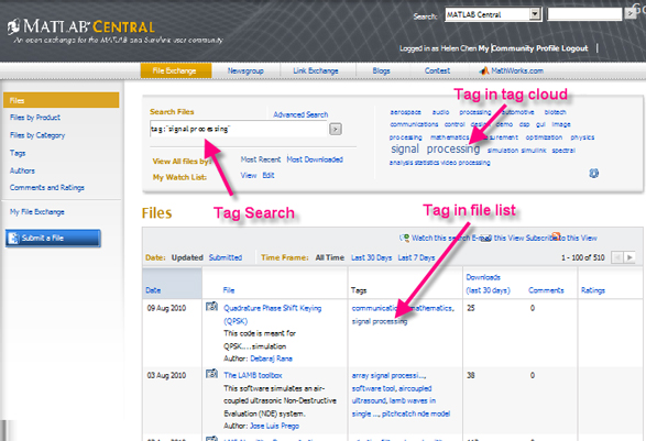 Using tags to find File Exchange content