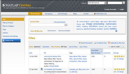 Find and share files on File Exchange=
