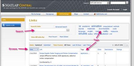Share web links on Link Exchange