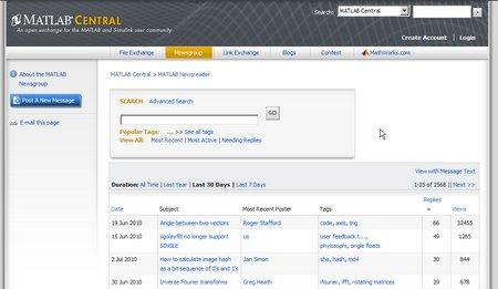 Talk to MATLAB Developers using the MATLAB Central Newsreader