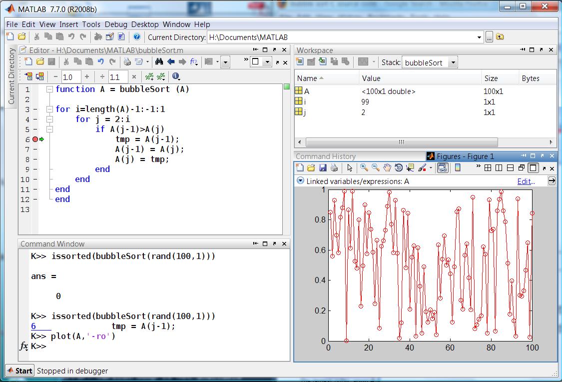 Visual debugging with Linked Plots » MATLAB Community