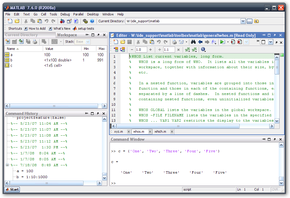 Graphical user interfaces are just plain better matlab for Table 2 matrix matlab