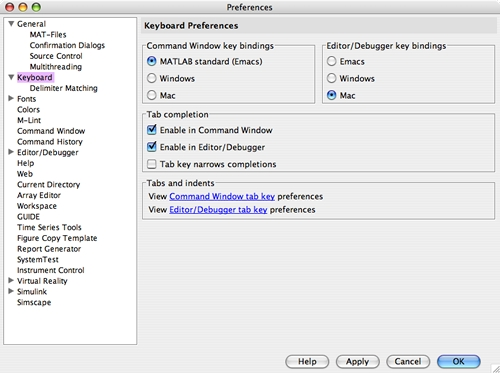 Setting up keybindings for the Command Window and Editor