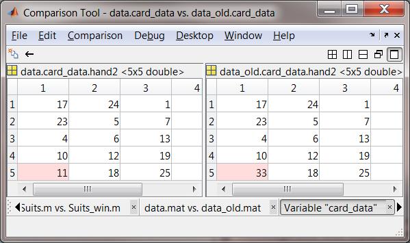 Comparison tool updates in r2011b matlab community for R value of windows comparison