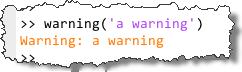 Orange-colored Warnings in MATLAB R2011b