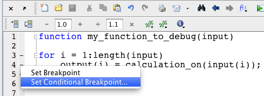 Set Conditional Breakpoint