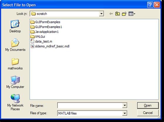 uigefile dialog on Windows