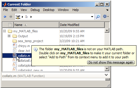 how to add function to matlab path