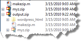 View a ZIP file in the Current Folder Browser