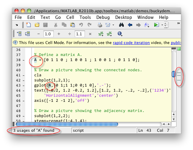 Highlighted variable in MATLAB Editor