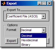 FDA Tool export options
