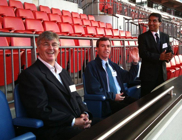 picture of Joe, Ned, and Sham in the Royal Box