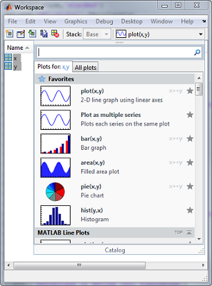 Plot Selector in the Workspace Browser