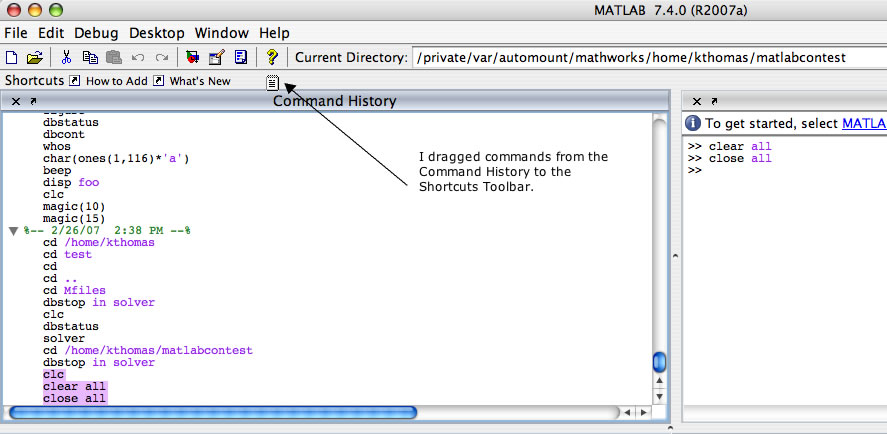 Shortcuts for commonly used code » MATLAB Community - MATLAB & Simulink