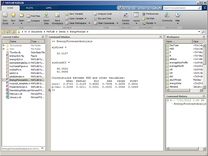 The MATLAB R2012b Desktop – Part 1: Introduction to the