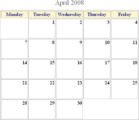 Html Calendar Generator File Exchange Pick Of The Week Matlab