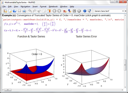 MathExplorer: Learn about math interactively with MuPAD ... Multivariable