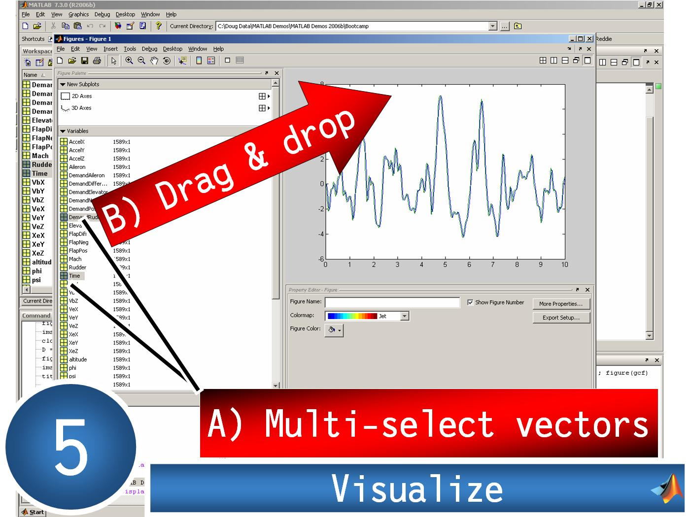 graphical tutorial  import data from excel  plot in matlab  u00bb file exchange pick of the week