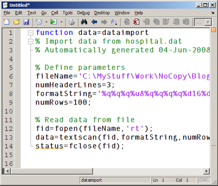 Reading Formatted Text » File Exchange Pick of the Week