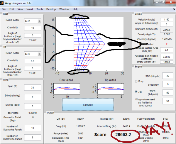 F-16 using Wing Designer