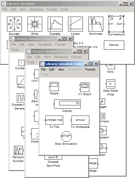 Simulink 2 Libraries on the desktop