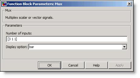 Mux vector dialog