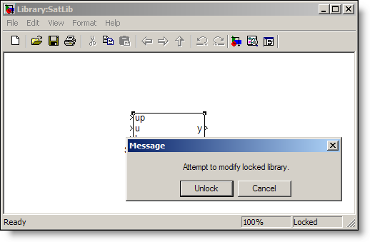 Modify locked library message