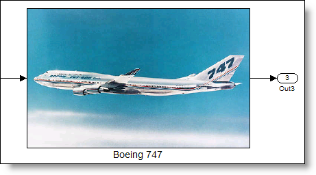 Masked subsystem with a Boeing 747 image for the icon