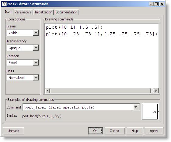 Mask editor GUI, Icon Tab