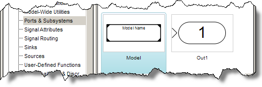 The Simulink model reference block