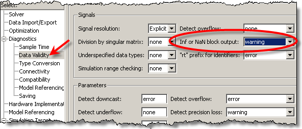 Simulink configuration parameters