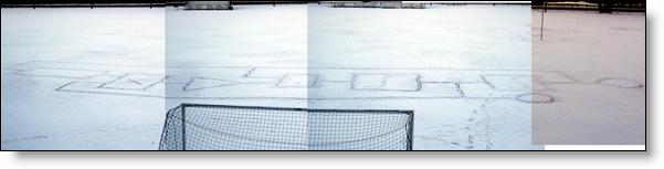 Simulink model in the snow, montage of images.