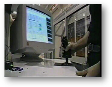 Using a joystick to control inputs to a Simulink model of a robotic arm.